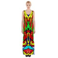 REFLECTION Maxi Thigh Split Dress