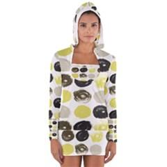 Scandinavian 60s Women s Long Sleeve Hooded T-shirt