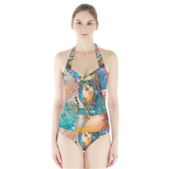 Star Illumination Women s Halter One Piece Swimsuit