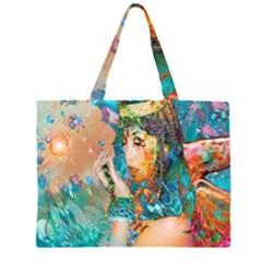 Star Illumination Zipper Large Tote Bag