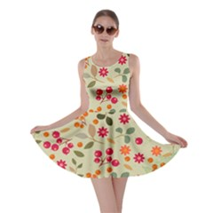 Elegant Floral Seamless Pattern Skater Dress