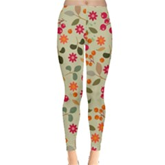 Elegant Floral Seamless Pattern Leggings