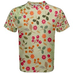 Elegant Floral Seamless Pattern Men s Cotton Tee