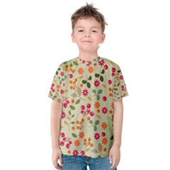 Elegant Floral Seamless Pattern Kid s Cotton Tee