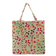 Elegant Floral Seamless Pattern Grocery Tote Bag