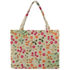 Elegant Floral Seamless Pattern Mini Tote Bag