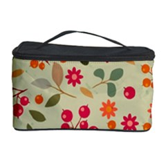 Elegant Floral Seamless Pattern Cosmetic Storage Cases