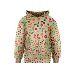 Elegant Floral Seamless Pattern Kids  Pullover Hoodie