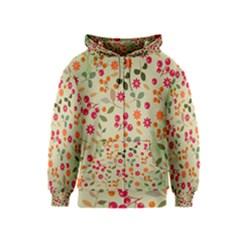 Elegant Floral Seamless Pattern Kids  Zipper Hoodie