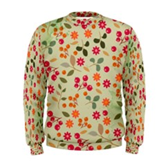 Elegant Floral Seamless Pattern Men s Sweatshirt