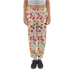 Elegant Floral Seamless Pattern Women s Jogger Sweatpants