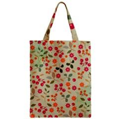 Elegant Floral Seamless Pattern Zipper Classic Tote Bag