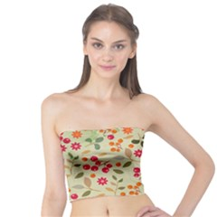 Elegant Floral Seamless Pattern Tube Top