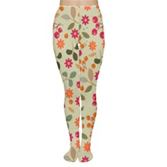 Elegant Floral Seamless Pattern Women s Tights