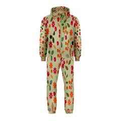 Elegant Floral Seamless Pattern Hooded Jumpsuit (Kids)