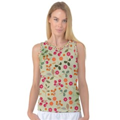 Elegant Floral Seamless Pattern Women s Basketball Tank Top