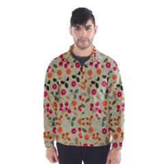 Elegant Floral Seamless Pattern Wind Breaker (Men)