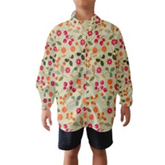 Elegant Floral Seamless Pattern Wind Breaker (Kids)