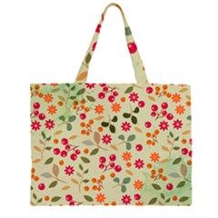 Elegant Floral Seamless Pattern Large Tote Bag