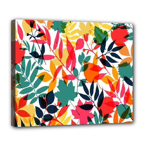 Seamless Autumn Leaves Pattern  Deluxe Canvas 24  x 20