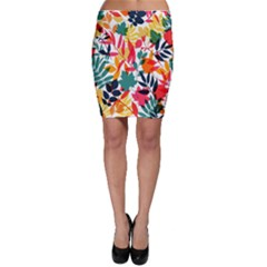 Seamless Autumn Leaves Pattern  Bodycon Skirts