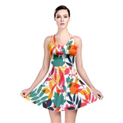Seamless Autumn Leaves Pattern  Reversible Skater Dress