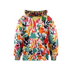 Seamless Autumn Leaves Pattern  Kids  Pullover Hoodie