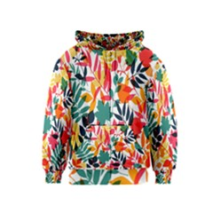 Seamless Autumn Leaves Pattern  Kids  Zipper Hoodie