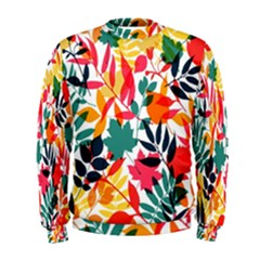 Seamless Autumn Leaves Pattern  Men s Sweatshirt