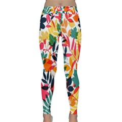 Seamless Autumn Leaves Pattern  Yoga Leggings