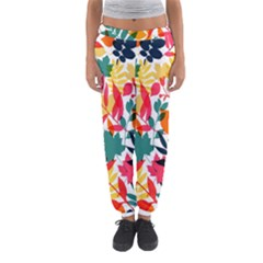 Seamless Autumn Leaves Pattern  Women s Jogger Sweatpants