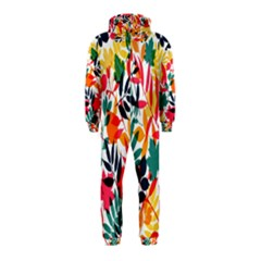 Seamless Autumn Leaves Pattern  Hooded Jumpsuit (Kids)