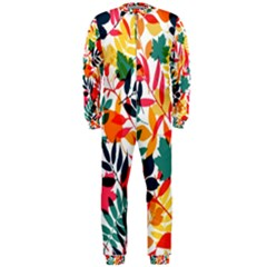 Seamless Autumn Leaves Pattern  Onepiece Jumpsuit (men)