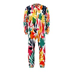 Seamless Autumn Leaves Pattern  Onepiece Jumpsuit (kids)