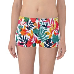 Seamless Autumn Leaves Pattern  Boyleg Bikini Bottoms