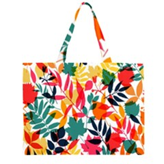 Seamless Autumn Leaves Pattern  Large Tote Bag