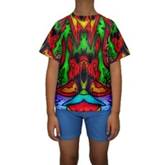 Faces Kid s Short Sleeve Swimwear