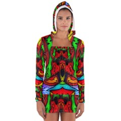 Faces Women s Long Sleeve Hooded T-shirt