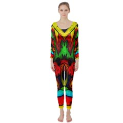 Faces Long Sleeve Catsuit