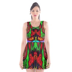 Faces Scoop Neck Skater Dress