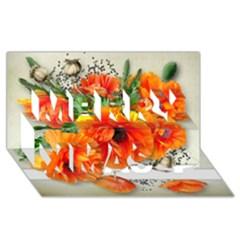002 Page 1 (1) Merry Xmas 3d Greeting Card (8x4)