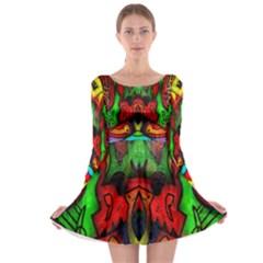 Face Two Long Sleeve Skater Dress