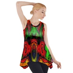 Face Two Side Drop Tank Tunic