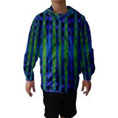 Blue Green Geometric Hooded Wind Breaker (kids)