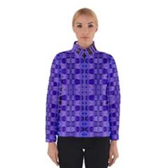 Blue Black Geometric Pattern Winterwear