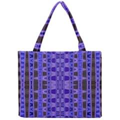 Blue Black Geometric Pattern Mini Tote Bag