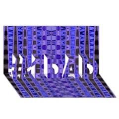 Blue Black Geometric Pattern #1 Dad 3d Greeting Card (8x4)