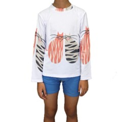 Two Lovely Cats   Kid s Long Sleeve Swimwear