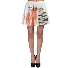 Two Lovely Cats   Skater Skirt