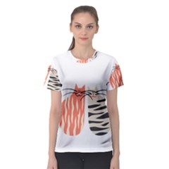 Two Lovely Cats   Women s Sport Mesh Tee